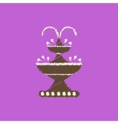 Flat icon design collection chocolate vector