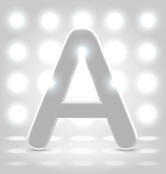 A over lighted background vector image vector image
