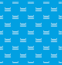 Balustrade pattern seamless blue vector