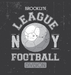 Brooklyn league poster vector