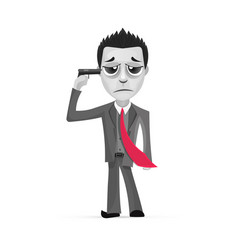 businessman committing suicide vector image