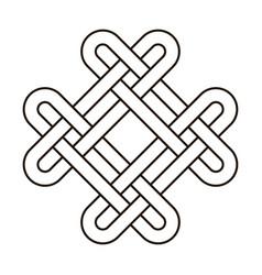 Celtic knot geometric ancient cross tribal vector