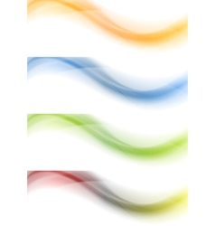 Colorful banners Gradient mesh vector image vector image