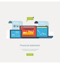 Concepts for business analysis financial vector image vector image