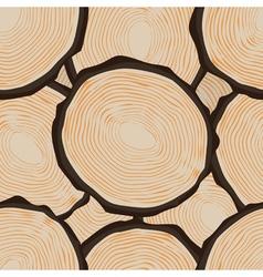 Cut log butt seamless pattern vector