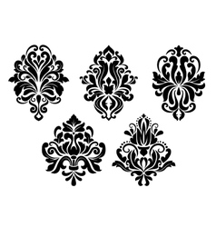 Decorative floral elements set vector