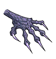 Dragon or monster paw vector