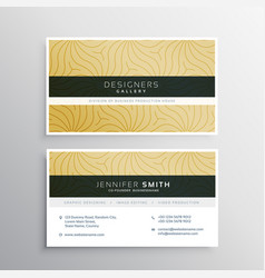 Elegant business card template with abtract vector