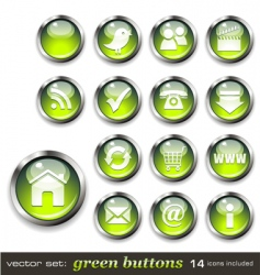 green aqua style web buttons vector image vector image