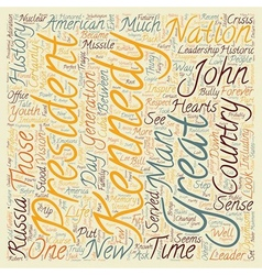 John f kennedy text background wordcloud concept vector