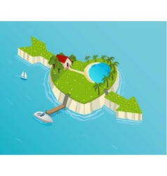 love island vector image vector image