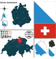 Map of zurich vector