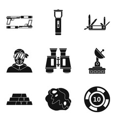 Men games icons set simple style vector