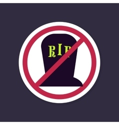 No ban or stop signs halloween grave icon vector