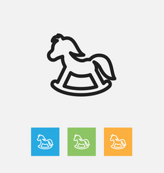 Of kin symbol on toy horse vector