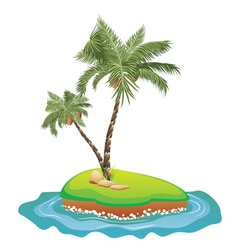 Palm Tree on Island5 vector image vector image