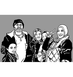 Refugees group vector