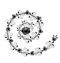 Roses flourishes 1 vector
