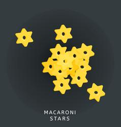 traditional italian kitchen macaroni stars pasta vector image