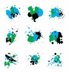 trio paint splat vector image vector image