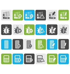 Flat 24 business office and website icons vector