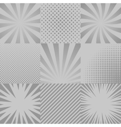 Comic backgrounds set vector