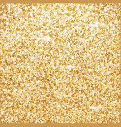 Golden glitter texture with lights vector