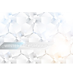 White diamonds background vector