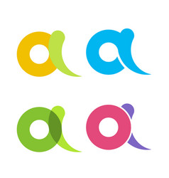 set isolated colorful letters and in flat vector image