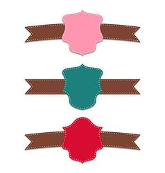 Collection set colorful labels geometric emblems vector image