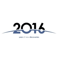 2016 year discovery new year space universe vector image