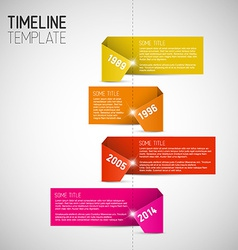 Infographic timeline report template made from vector image