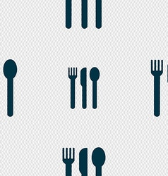 Fork knife spoon icon sign seamless pattern with vector