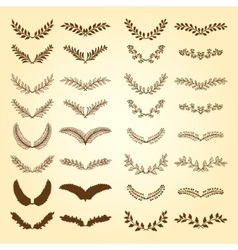 Wreaths and branches vector