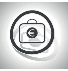 Euro bag sign sticker curved vector