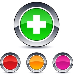 plus round button vector image