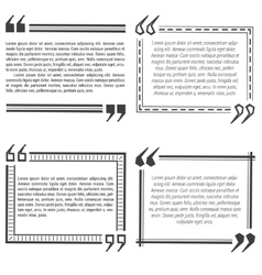 Four quote bubble template vector