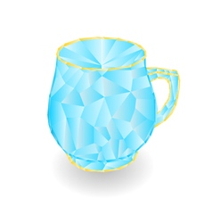 Mug of polygons part of porcelain vector