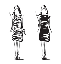 Fashion models sketch vector