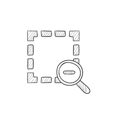 Zoom out sketch icon vector