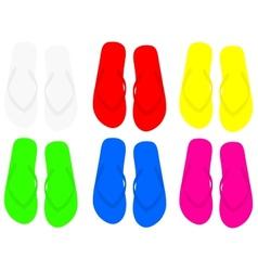 Pair of flip flops vector