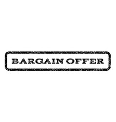 Bargain offer watermark stamp vector