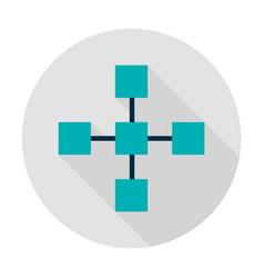Blockchain technology circle icon vector