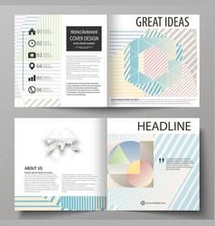 Business templates for bi fold square brochure vector