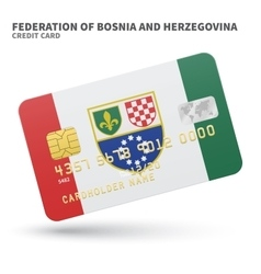 Credit card with federation of bosnia and vector