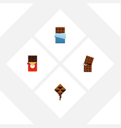 Flat icon sweet set of delicious wrapper bitter vector