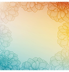 Floral background vintage style vector image
