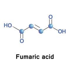 Fumaric acid molecule vector