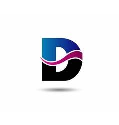 Letter d logo icon design template elements vector