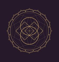 Mandala sacred geometry vector